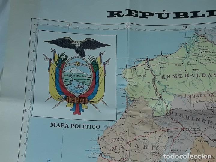 GRAN MAPA POLÍTICO REPÚBLICA DEL ECUADOR AÑO 1990 (Coleccionismo - Mapas - Mapas actuales (desde siglo XIX))