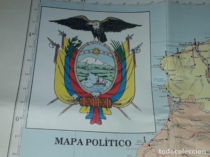 Mapas contemporáneos: Gran mapa Político República del Ecuador año 1990 - Foto 2 - 204174477