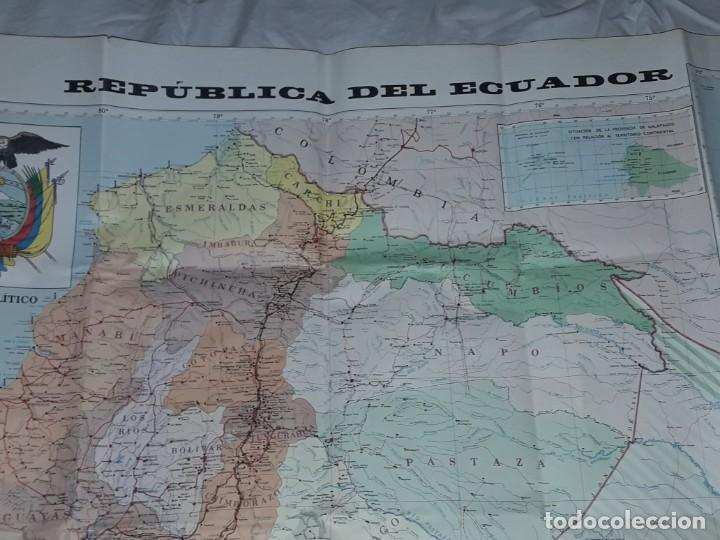 Mapas contemporáneos: Gran mapa Político República del Ecuador año 1990 - Foto 3 - 204174477