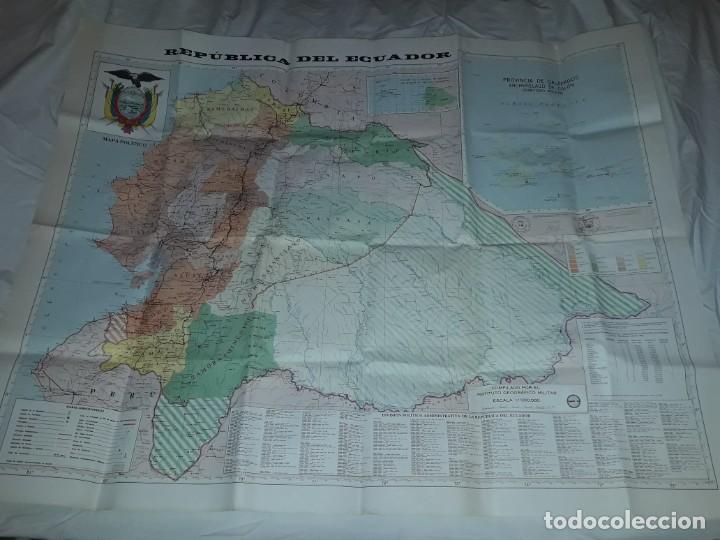 Mapas contemporáneos: Gran mapa Político República del Ecuador año 1990 - Foto 4 - 204174477