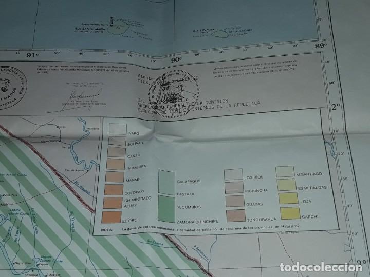 Mapas contemporáneos: Gran mapa Político República del Ecuador año 1990 - Foto 11 - 204174477