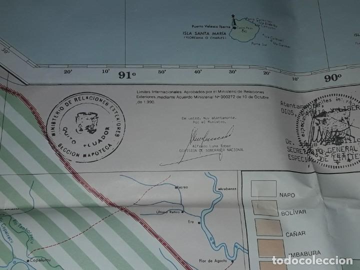Mapas contemporáneos: Gran mapa Político República del Ecuador año 1990 - Foto 13 - 204174477