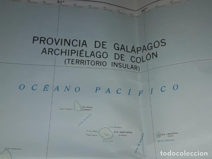 Mapas contemporáneos: Gran mapa Político República del Ecuador año 1990 - Foto 14 - 204174477