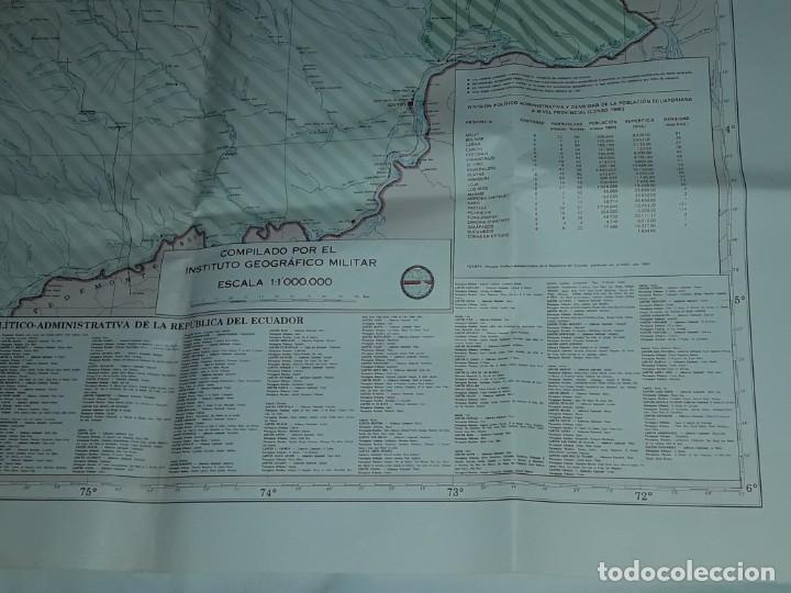 Mapas contemporáneos: Gran mapa Político República del Ecuador año 1990 - Foto 15 - 204174477