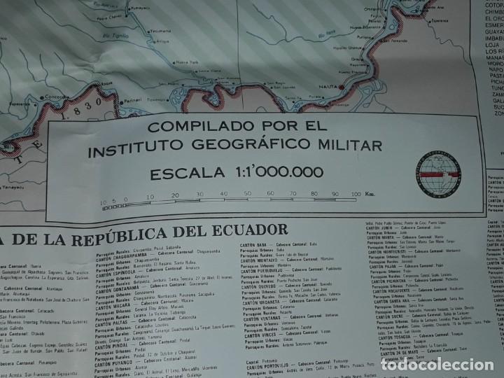 Mapas contemporáneos: Gran mapa Político República del Ecuador año 1990 - Foto 16 - 204174477