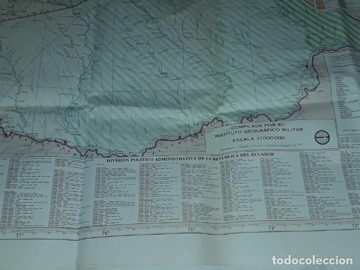 Mapas contemporáneos: Gran mapa Político República del Ecuador año 1990 - Foto 17 - 204174477