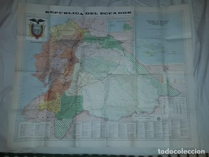 Mapas contemporáneos: Gran mapa Político República del Ecuador año 1990 - Foto 21 - 204174477