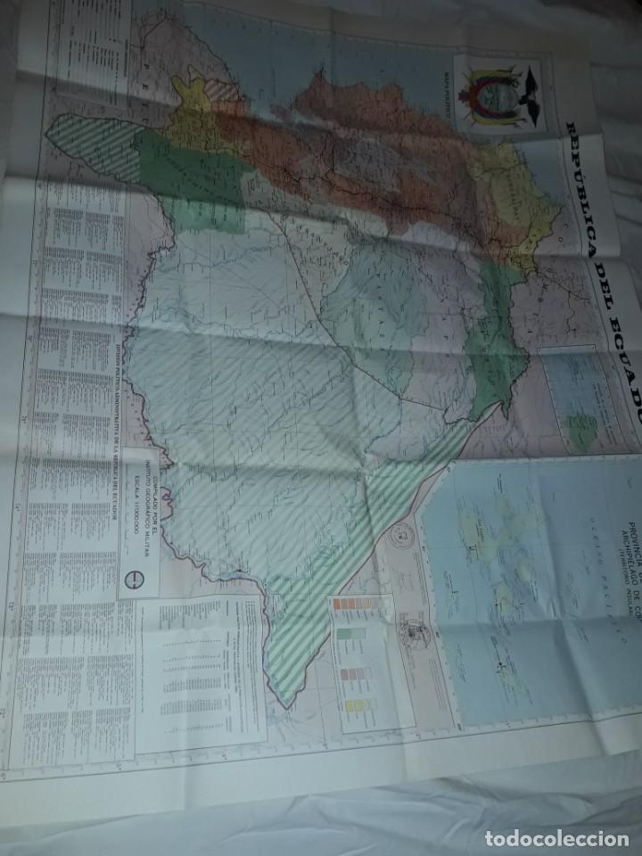 Mapas contemporáneos: Gran mapa Político República del Ecuador año 1990 - Foto 22 - 204174477