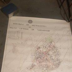 Mapas contemporáneos: PLANO DE REFORMA DE ALINEACIONES AL PLANO GENERAL DE VALLADOLID SECCIONES A ESCALA 1/200. Lote 204323620