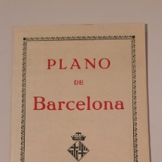 Mapas contemporáneos: PLANO DE BARCELONA/ AÑOS 20-30/ CON PLUBLICIDAD DE MAQUINA DE ESCRIVIR./ ORIGINAL DE ÉPOCA.. Lote 204473276