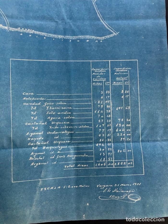 Mapas contemporáneos: BERGARA ( GUIPUZCOA ) AÑO 1921 / CASERIO DE LAMBIDE / MAPA - PLANO - Foto 4 - 204816493