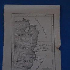 Mapas contemporáneos: PLANO O MAPA GOLFO DE GUINEA. TERRITORIO ESPAÑOL.. Lote 205115076