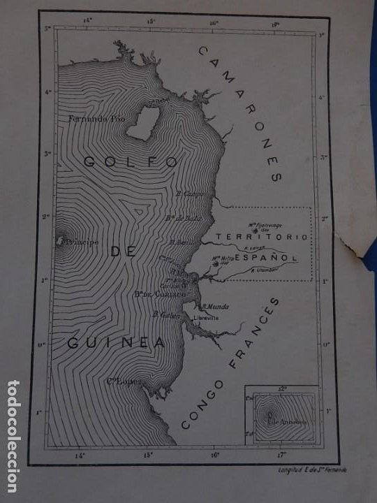 Mapas contemporáneos: Plano o mapa Golfo de Guinea. Territorio Español. - Foto 2 - 205115076