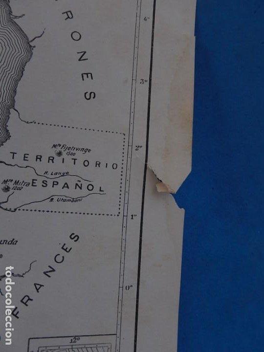 Mapas contemporáneos: Plano o mapa Golfo de Guinea. Territorio Español. - Foto 3 - 205115076