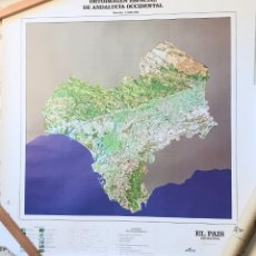 Mapas contemporáneos: ORTOIMAGEN ESPACIAL DE ANDALUCIA OCCIDENTAL.ESCALA 1:600.000. Lote 205319383
