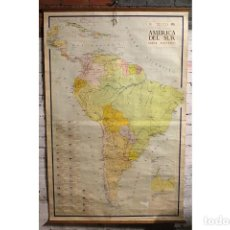 Mapas contemporáneos: ANTIGUO MAPA DE ESCUELA-AMERICA DEL SUR-GRAN TAMAÑO. Lote 205438526