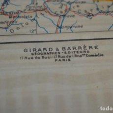 Mapas contemporáneos: MAPA FRANCÉS / ALEMANIA, ZONAS DE OCUPACIÓN - DE GIRARD & BARRÈRE - AÑO 1945 / 64 X 49 CM. ¡DIFÍCIL!. Lote 205853670