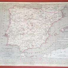 Mapas contemporáneos: MAPA ORIGINAL 1850 - ESPAÑA 1492 - 1640 - 33,5X24,5CM. Lote 206389256