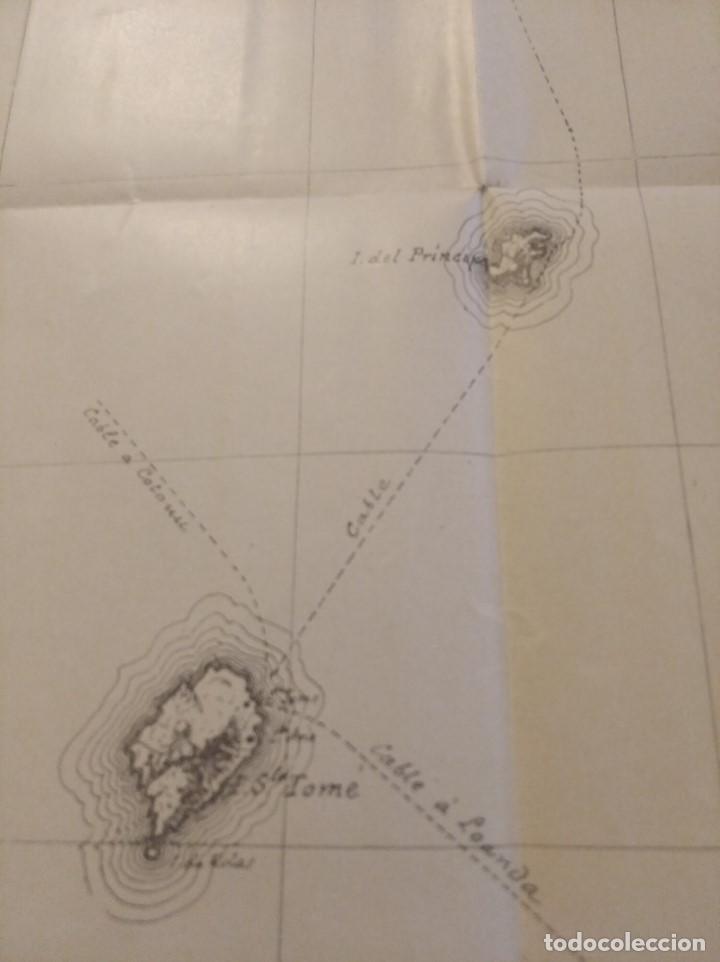 Mapas contemporáneos: CROQUIS DE LAS POSESIONES ESPAÑOLAS DEL GOLFO DE GUINEA ( Aprox 1907) (48 cmsx35,5 cms) - Foto 3 - 206829562