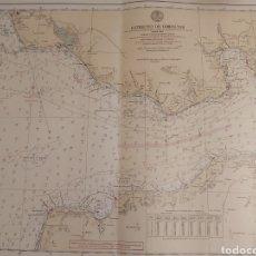Mapas contemporáneos: ANTIGUO MAPA O CARTA NAUTICA ESTRECHO DE GILBRALTAR.. Lote 206870818