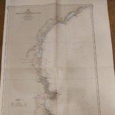 Mapas contemporáneos: ANTIGUO MAPA O CARTA NAUTICA. CABO DE SAN SEBASTIAN TO SÈTE.. Lote 206964212