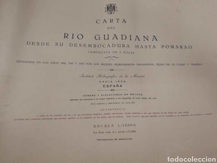 Mapas contemporáneos: Carta del rio guardia. 1955. - Foto 2 - 206977373