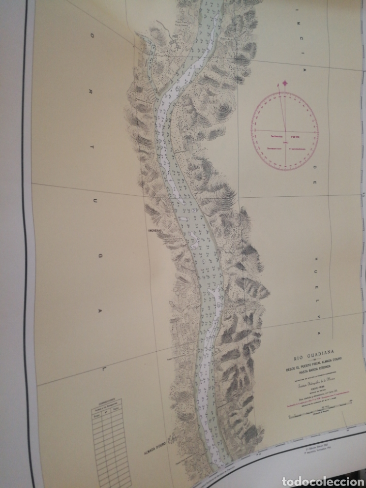 Mapas contemporáneos: Carta del rio guardia. 1955. - Foto 7 - 206977373