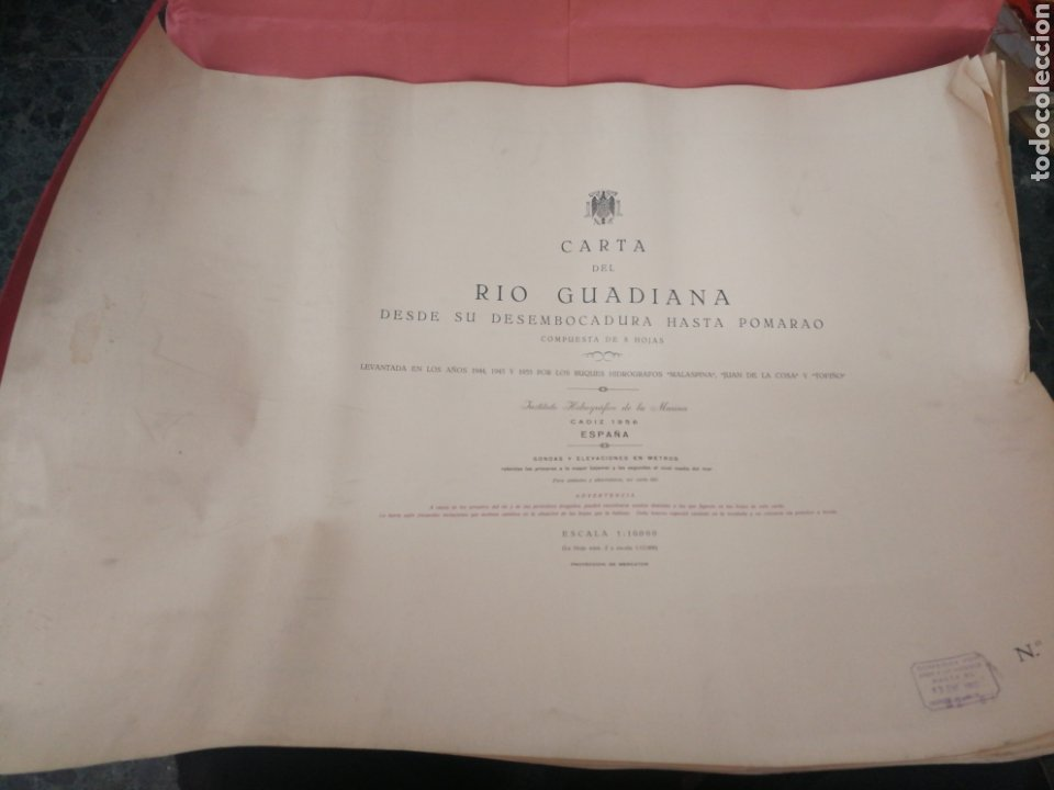 CARTA DEL RIO GUARDIA. 1955. (Coleccionismo - Mapas - Mapas actuales (desde siglo XIX))