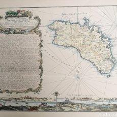 Mapas contemporáneos: REPRODUCCIÓN - MAPA ISLA DE MENORCA - COLOREADO - 1960. Lote 220097520