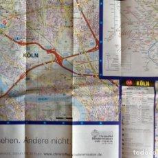 Mapas contemporáneos: MAPA DE KOLN. ALEMANIA.. ENVIO INCLUIDO.. Lote 207310491