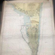 Mapas contemporáneos: MAPA CARTA NAUTICA NAVEGACION PUERTO DE GIBRALTAR Y ALGECIRAS-LA LINEA CADIZ 1963.. Lote 207356847