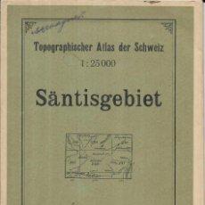 Mapas contemporáneos: == MAPA ALEMANIA - SANTISGABIET 1 : 25.000 - 1923/26 - 78 CM X 56 CM. Lote 207621256
