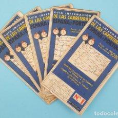 Mapas contemporáneos: LOTE 5 MAPAS GUIA INTERNACIONAL DE LAS CARRETERAS DE ESPAÑA Y PORTUGAL NUMEROS 1, 5, 8, 11 Y 14. Lote 208019408