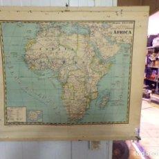 Mapas contemporáneos: MAPA PALUZIE AFRICA DE ESCUELA PREPARADO PARA COLGAR. Lote 208563800