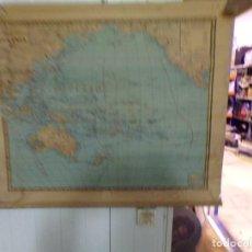 Mapas contemporáneos: MAPA PALUZIE OCEANIA 1941 DE ESCUELA PREPARADO PARA COLGAR. Lote 208567141