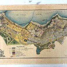 Mapas contemporáneos: PROYECTO DE URBANIZACION Y ENSANCHE EN LA ANTEIGLESIA DE GUECHO. AÑO 1923. Lote 209115337