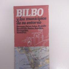 Mapas contemporáneos: PLANO DE BILBAO Y MUNICIPIOS DE SU ENTORNO.. Lote 210526860