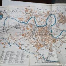 Mapas contemporáneos: PAMPLONA, PLANO CALLEJERO. AÑOS 60. PUBLICIDAD HOTEL ORHI. RESIDENCIA. NAVARRA TURÍSTICA.. Lote 210553620