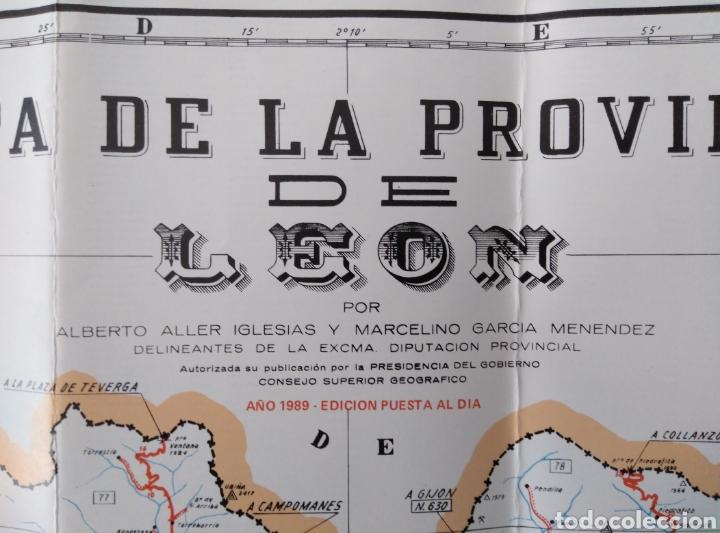 Mapas contemporáneos: Mapa de la Provincia de León. 1989 Edición puesta al día. 80x59 - Foto 2 - 210571653