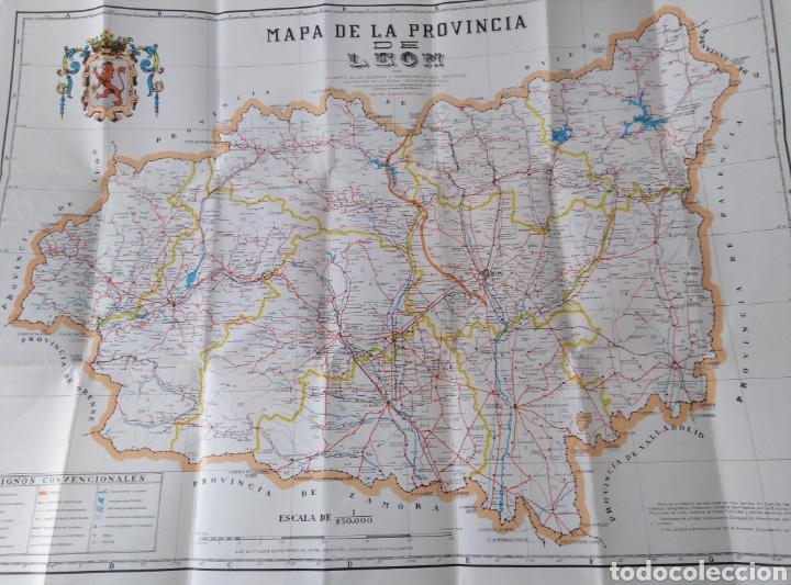 MAPA DE LA PROVINCIA DE LEÓN. 1989 EDICIÓN PUESTA AL DÍA. 80X59 (Coleccionismo - Mapas - Mapas actuales (desde siglo XIX))
