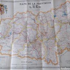 Mapas contemporáneos: MAPA DE LA PROVINCIA DE LEÓN. 1989 EDICIÓN PUESTA AL DÍA. 80X59. Lote 210571653
