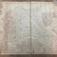 Mapas contemporáneos: PLANO DE GUIA MAPA DE CADIZ AÑO 1912 - MEDIDA 96X66 CM. Lote 210662896