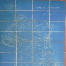 Mapas contemporáneos: MAPA DE LA PROVINCIA DE VALENCIA 1909. MONCADA LUIS (GRAL JEFE DE E N) MUGA EMETERIO (CAPITÁN) 90X72. Lote 211270422