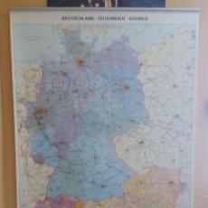 Mapas contemporáneos: MAPA MURAL DEUTSCHLAND OSTERREICH SCHWEIZ (FISICO-POLITICO).1/ 1.250.000, KLETT. Lote 211390241