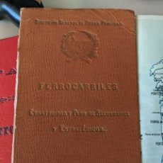 Mapas contemporáneos: 1909 MAPA FERROCARRILES Y PLAN DE SECUNDARIOS Y ESTRATEGICOS - DIRECCIÓN GENERAL OBRAS PÚBLICAS. Lote 211402961