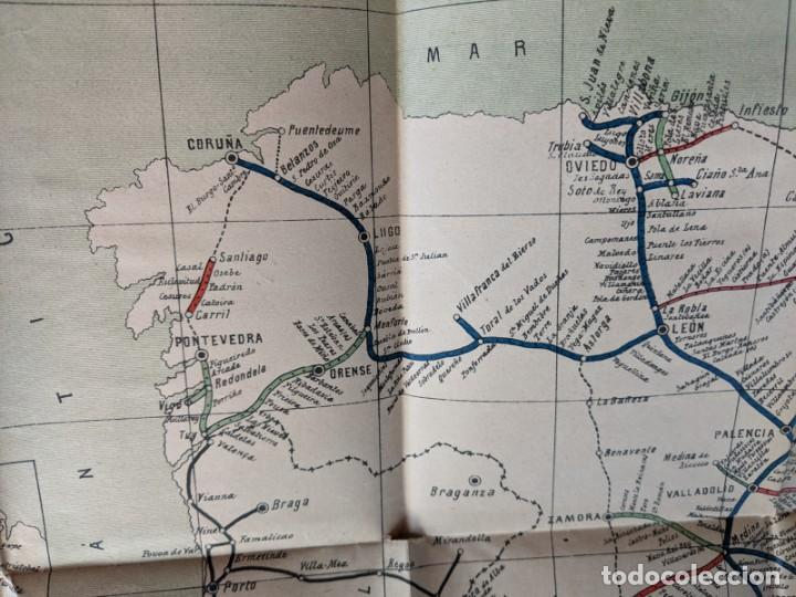 Mapas contemporáneos: 1895 MAPA DE FERROCARRILES E INDICE ALFABETICO ESTACIONES - TIPOGRAFIA DE J.RODRIGUEZ DE MADRID - Foto 5 - 211403286