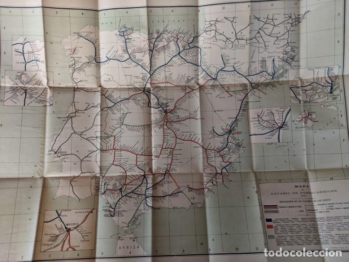 1895 MAPA DE FERROCARRILES E INDICE ALFABETICO ESTACIONES - TIPOGRAFIA DE J.RODRIGUEZ DE MADRID (Coleccionismo - Mapas - Mapas actuales (desde siglo XIX))
