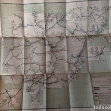 Mapas contemporáneos: 1895 MAPA DE FERROCARRILES E INDICE ALFABETICO ESTACIONES - TIPOGRAFIA DE J.RODRIGUEZ DE MADRID. Lote 211403286