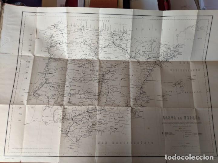 Mapas contemporáneos: 1881 CARTA MAPA DE LOS FERROCARRILERS DE ESPAÑA - DIRECCION DE OBRAS PUBLICAS - Foto 3 - 211405520