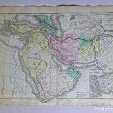Mapas contemporáneos: 1876 MAPA FÍSICO Y POLÍTICO ASIA OCCIDENTAL M.M. DRIOUX Y CH. LEROY GRABADO POR JENOTTE. Lote 211413621